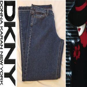 DKNY Fray Hem Wide Leg Jean-Size 12